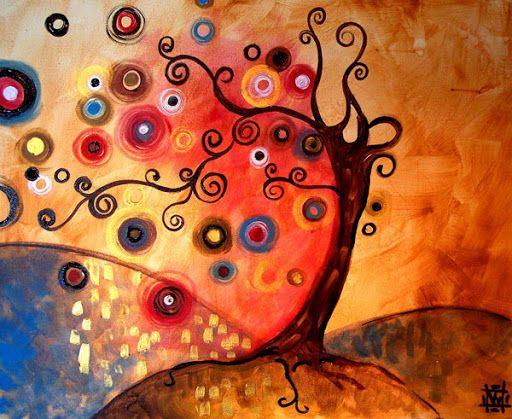 arbre coloré